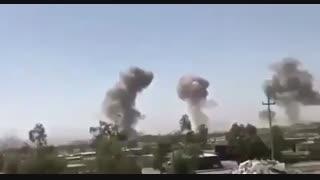 فیلمی از لحظات اصابت موشکها به مقر تروریستهای حزب دموکرات در اقلیم کردستان عراق