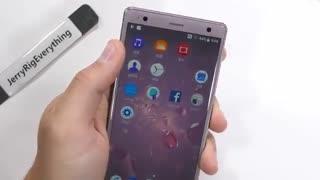 ویدیو تست استحکام Sony Xperia XZ