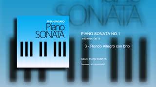 Piano Sonata No1 - mvt 3 - Ali Jahangard - علی جهانگرد