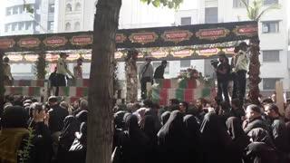 مراسم تشییع شهدای گمنام(دیروز تهران)