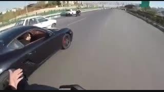 مسابقه موتورسنگین و پورشه -اتوبان تهران کرج