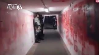 تونل وحشتناک ورود بازیکنان به ورزشگاه ستاره سرخ بلگراد