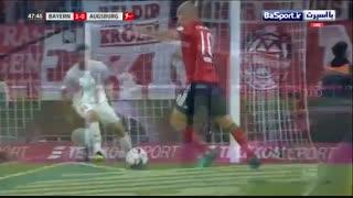 خلاصه بازی بایرن مونیخ 1-1 آگزبورگ