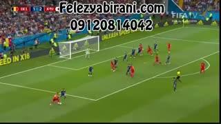 صحنه های جذاب بازی ژاپن-بلژیک در جام جهانی 2018.