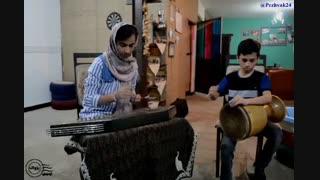 ترانه لری- سنتور: هستی زند- تمبک: آرش حاج تقی