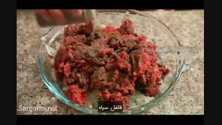 طرز تهیه کباب تابه ای (فارسی)