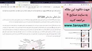 ترجمه مقاله efqm با ورد و پاورپوینت