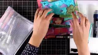 کلاژ کاغذ و دستمال