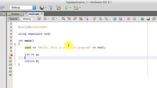آموزش برنامه نویسی به زبان ++C - جلسه دوم : اولین برنامه به زبان ++C