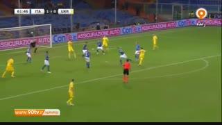 خلاصه بازی دوستانه: ایتالیا 1-1 اوکراین