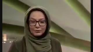 پاسخ تند لاله صبوری به سوال علی ضیا در برنامه زنده