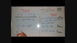 فیزیک دوازدهم ،خلاصه ی معادلات حرکت شناسی+سقوط آزاد+حل تمرین 24، فصل 1