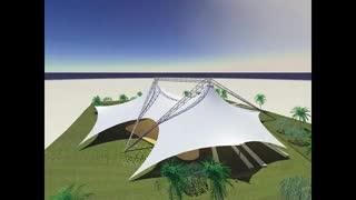 نمونه های از برترین طراحی های سازه های چادری فروش رفته توسط شرکت غشا 02126207736