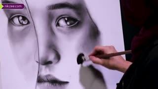 طراحی چهره به سبک سیاه قلم