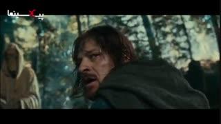 فیلم ارباب حلقه ها یک ، سکانس مرگ برومیر (شان بین) در نبرد با ارگها