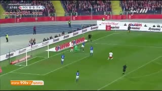 خلاصه لیگ ملتهای اروپا- لهستان 0-1 ایتالیا