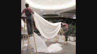 سقف کشسان لابل در مجتمع تجاری پالادیوم
