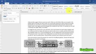 آموزش کلیدهای میانبر نرم افزار Word (قسمت هفتم)