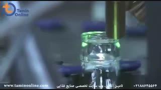 خط تولید بطری شیشه ای