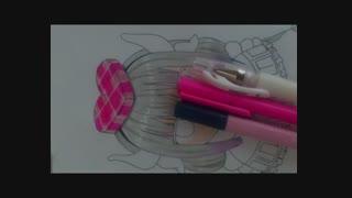 آموزش تصویری نقاشی کانا_چان انیمه اژدهای خدمتکار خانم کوبایاشی توسط خودم