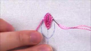 گلدوری برگ  fly stitch leaf